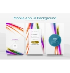 Mobile application interface background design vector image