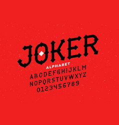 modern style serif font vector image