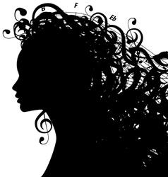 MusicWoman vector image