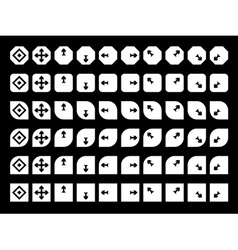 navigation buttons black icons vector image