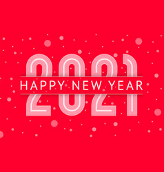 new year greeting card design 2021 year vector image