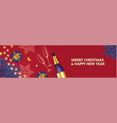 new year party flyer christmas poster design vector image