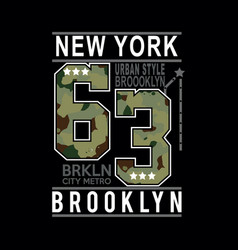 new york typography t shirt vector image