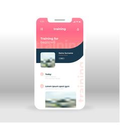 Online training for beginners ui ux gui screen vector
