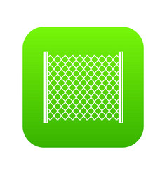 Perforated gate icon digital green vector