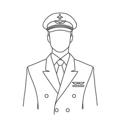 Pilotprofessions single icon in outline style vector