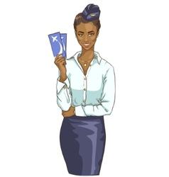 portrait of beautiful black woman vector image