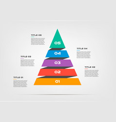 Pyramids infographic concept template with vector