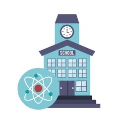 school building with education icon vector image