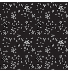 Seamless stars pattern background vector