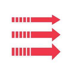 Set red arrows arrow sign vector