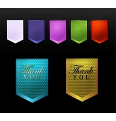 set ribbons and label vector image