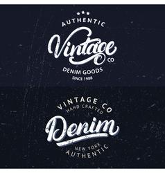set tee prints labels badges vector image