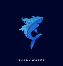 Shark template vector