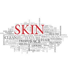 skin word cloud concept vector image
