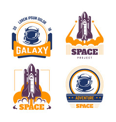 spacecraft and pressure suit space exploration vector image