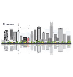 toronto canada city skyline with color buildings vector image