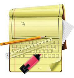 vector notepad xxl icon vector image