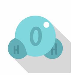Water molecule icon flat style vector