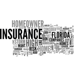 What is in a south florida homeowner s insurance vector