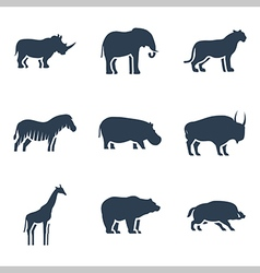 Wild animals icon vector image