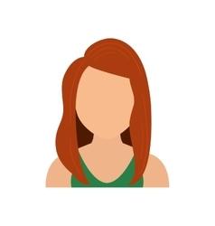 Woman female girl head person icon graphic vector