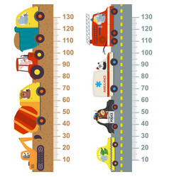 Working and city transport height measure vector