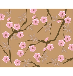 blooming cherry background vector image