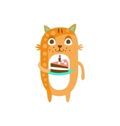 Cat With Party Attributes Girly Stylized Funky vector image vector image