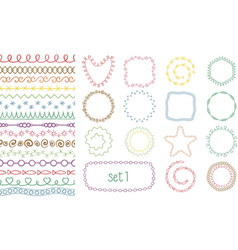 hand drawn decorative brushes vector image