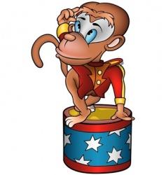 monkey circus performer vector image