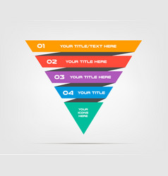 pyramids infographic concept template with vector image vector image