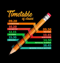timetable or timeline design template vector image vector image