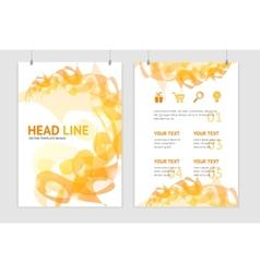 abstract orange geometric brochure flyer vector image vector image