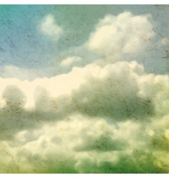 Clouds Grungy Texture vector image