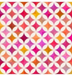 Seamless Colorful Circle Star Quilt Tiling vector image vector image