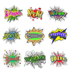 set of bubbles speech oops expression and speak vector image