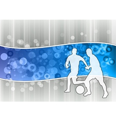 white soccer players on the blue wave vector image vector image