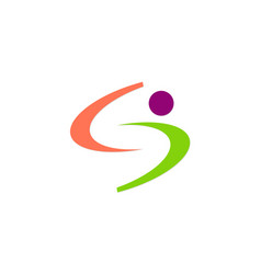 abstract letter s people logo vector image