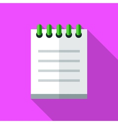 Colorful notepad icon in modern flat style with vector image