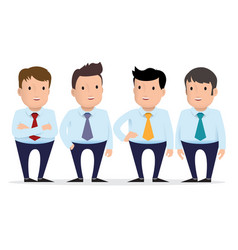 group of guys in different clothes vector image