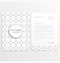 letterhead design with minimal pattern vector image vector image
