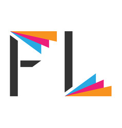 stylized f and l vector image vector image