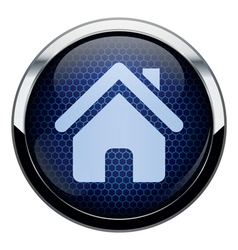 Blue honeycomb home icon vector image