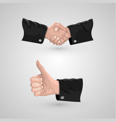 icon handshake and cool vector image