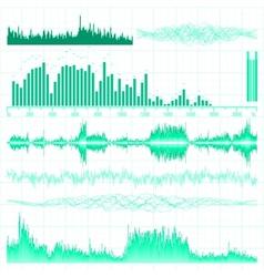 Music equaliser set vector