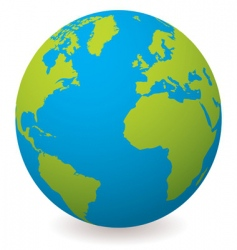 natural earth globe vector image vector image