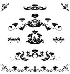 set elements ornaments floral vector image