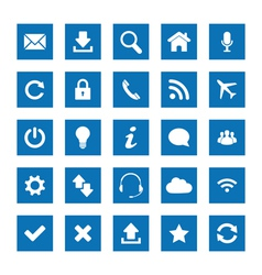 Square web icons vector image vector image