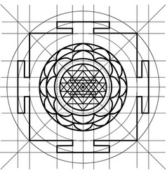 yantra sacred geometry coloring book Vector Image